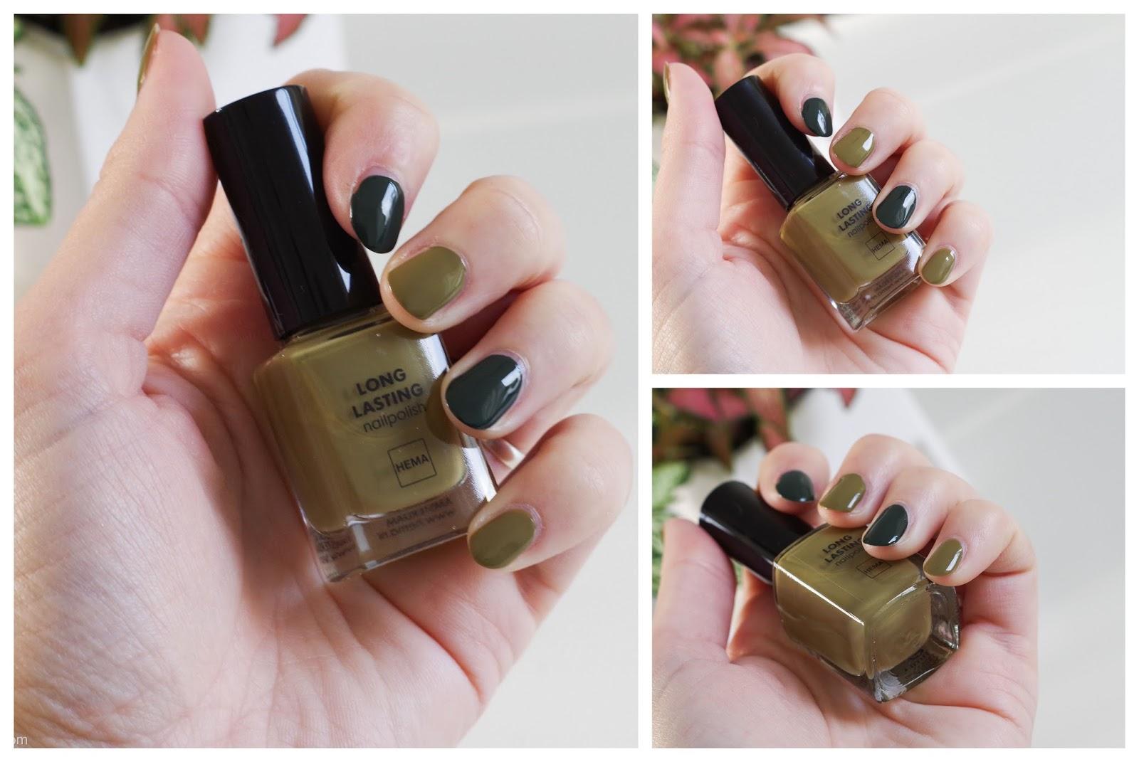 hema long lasting nailpolish nagellak poldergreen oh my olive