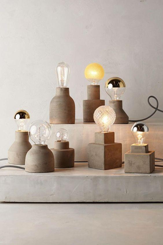beton lampen verlichting trends 2017