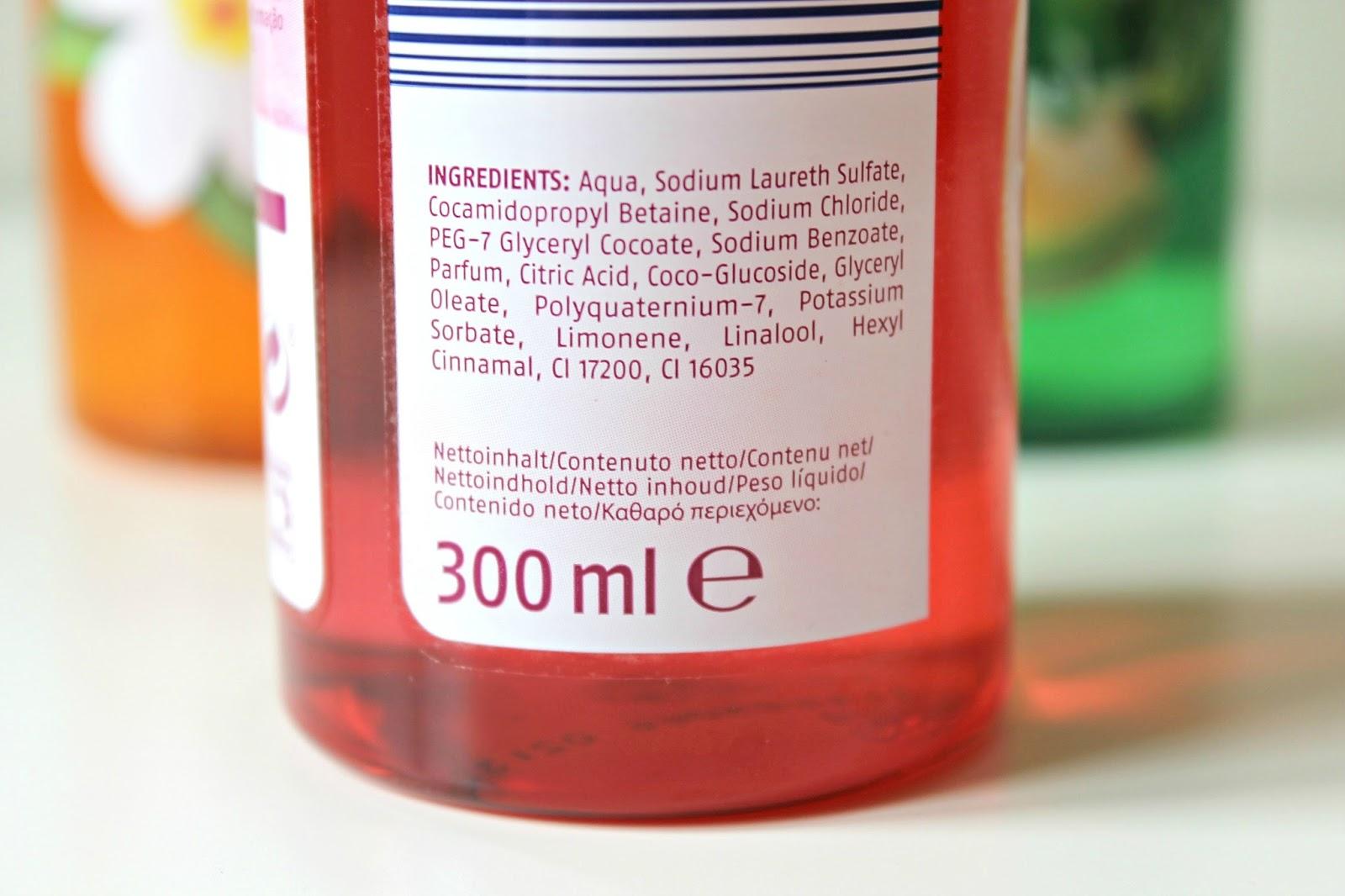 Cien shower gel grapefruit ingrediënten