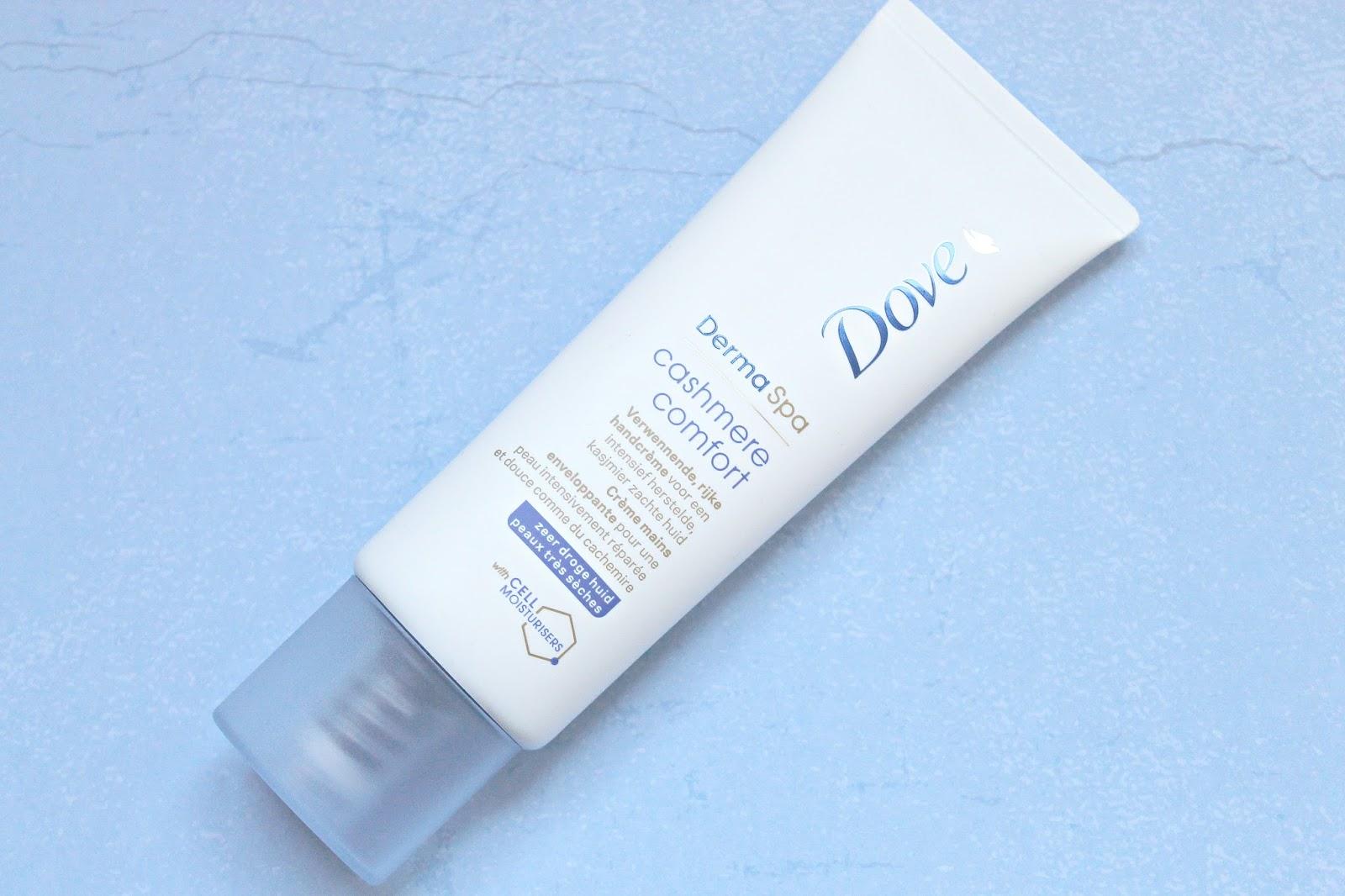 review dove dermaspa cashmere comfort handcrème