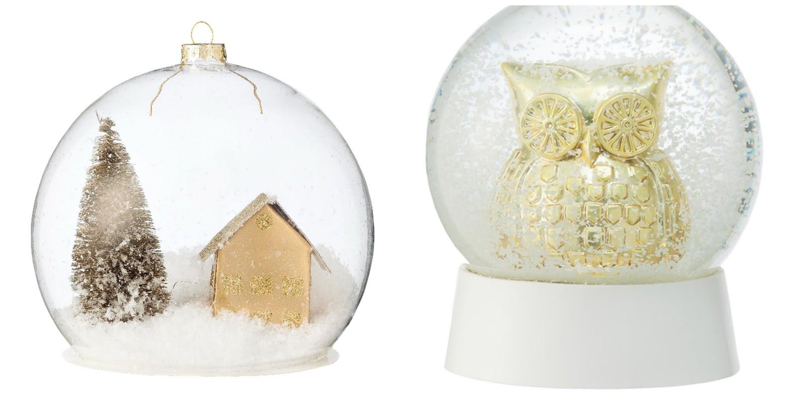 hema kerstcollectie goud zilver sneeuwglobes