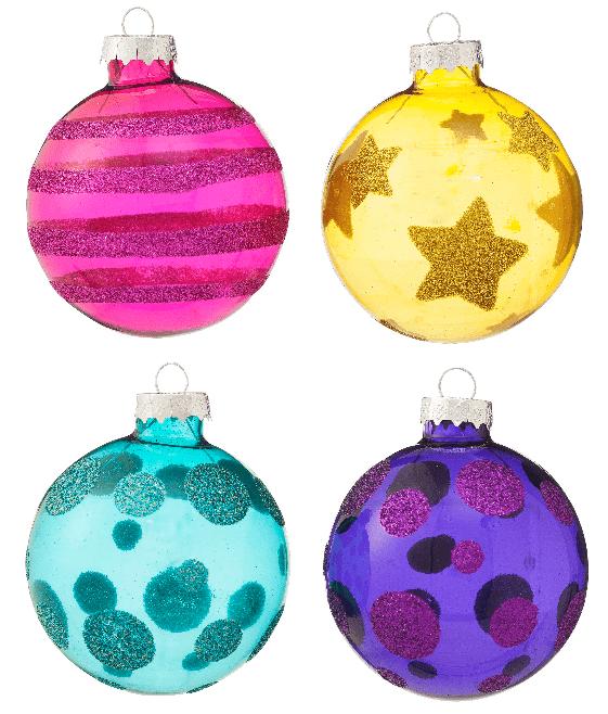 hema kerstcollectie kleurrijke glazen kerstballen