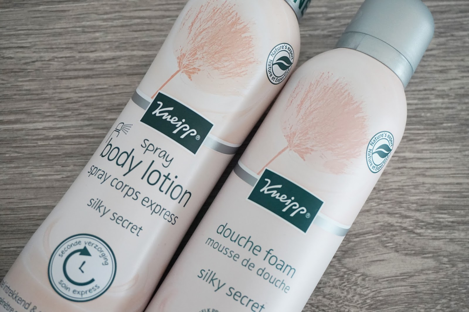kneipp silky secret douche foam body lotion spray