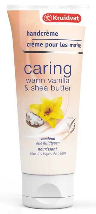 kruidvat caring handcrème warm vanilla shea butter
