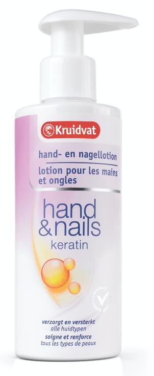kruidvat hand- en nagellotion hand & nails keratin