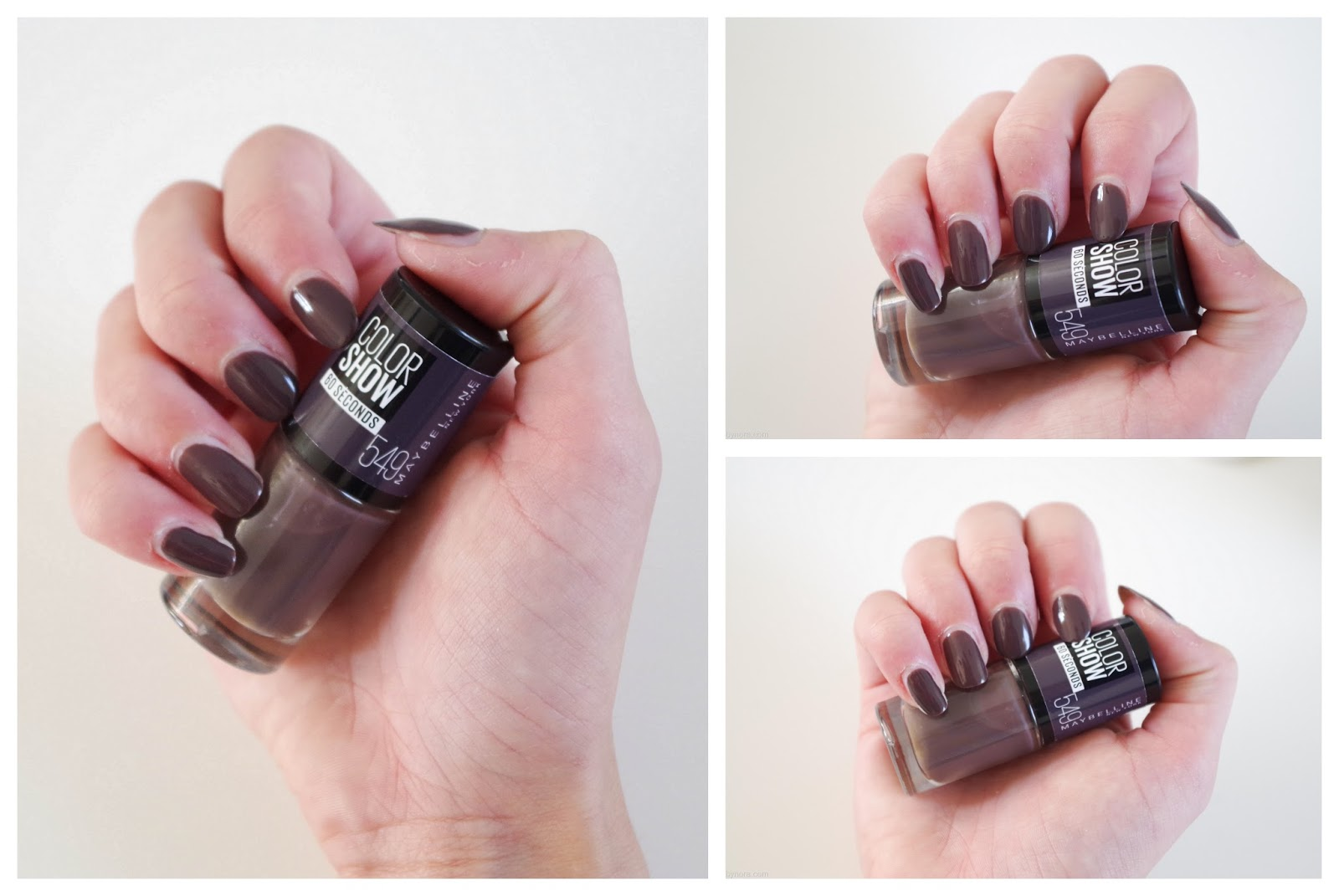 maybelline colorshow 60 seconds nailpolish nagellak 549 midnight taupe