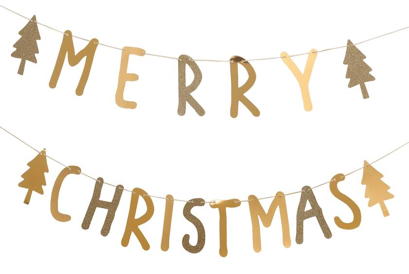 hema kerstcollectie merry christmas slinger
