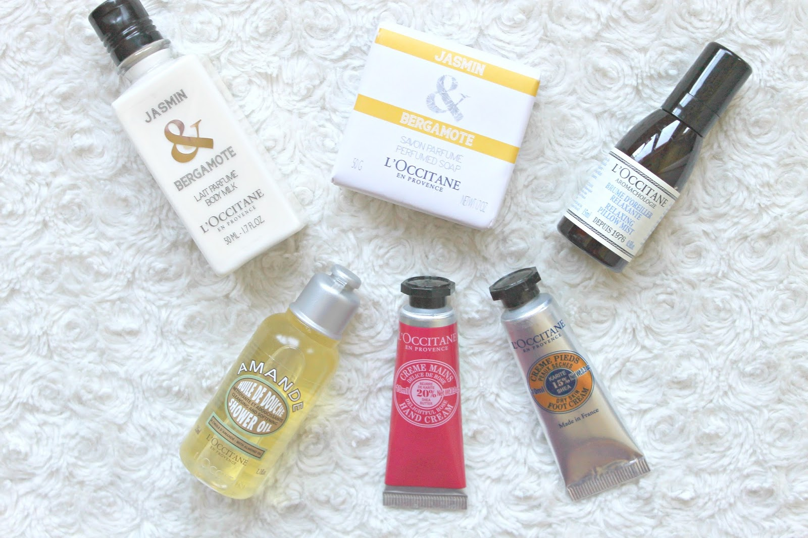 inhoud mini's l'occitane my beauty basket