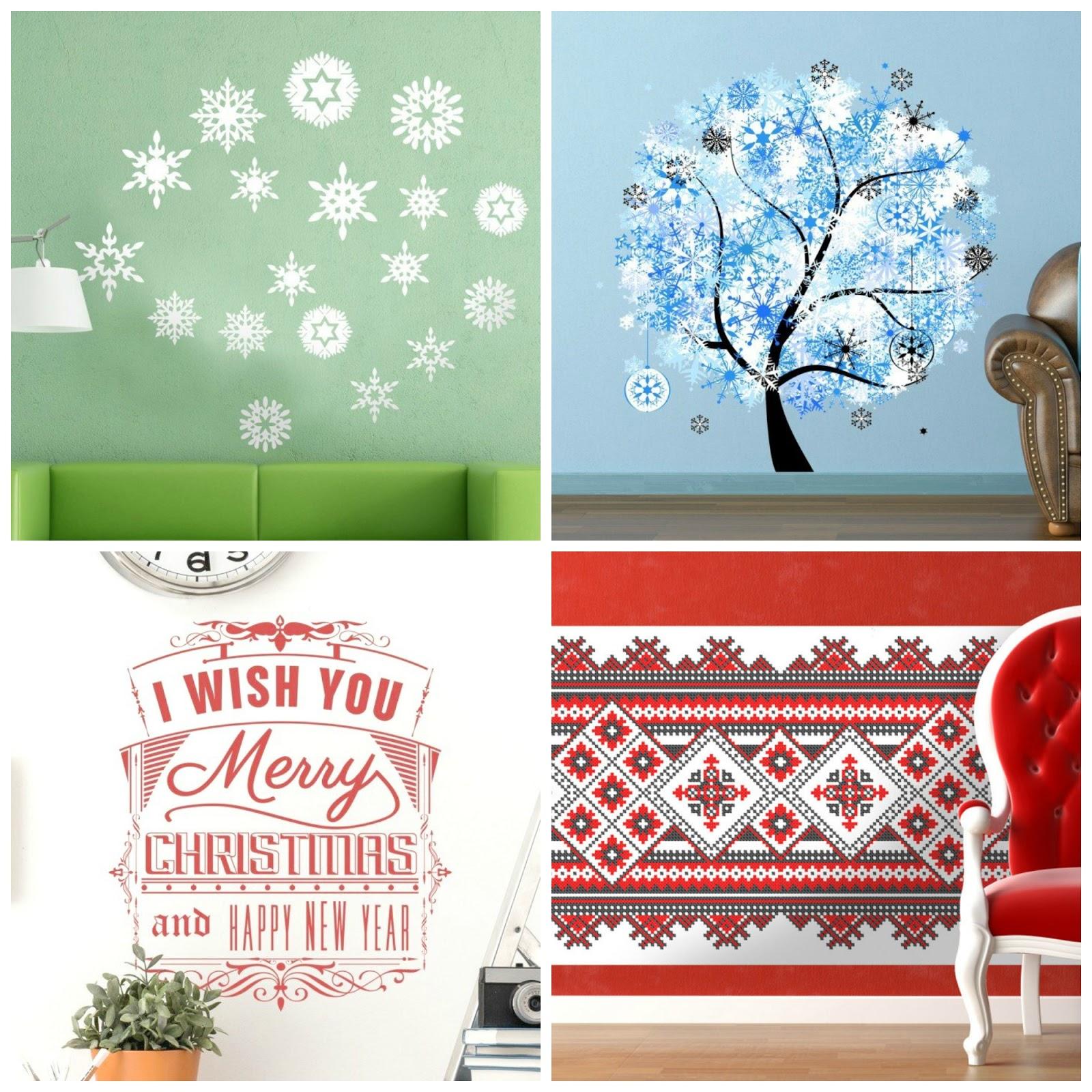 tenstickers muurstickers winter feestdagen