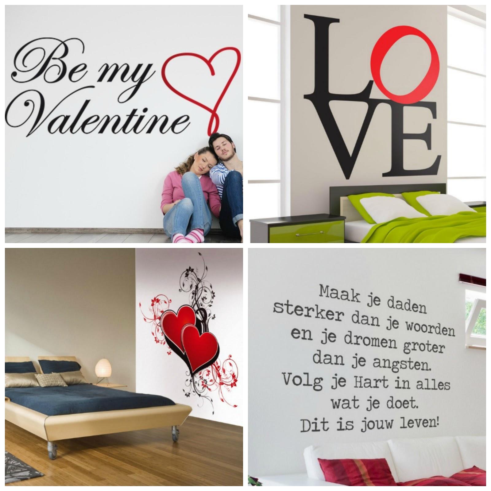valentijn cadeautip muurstickers