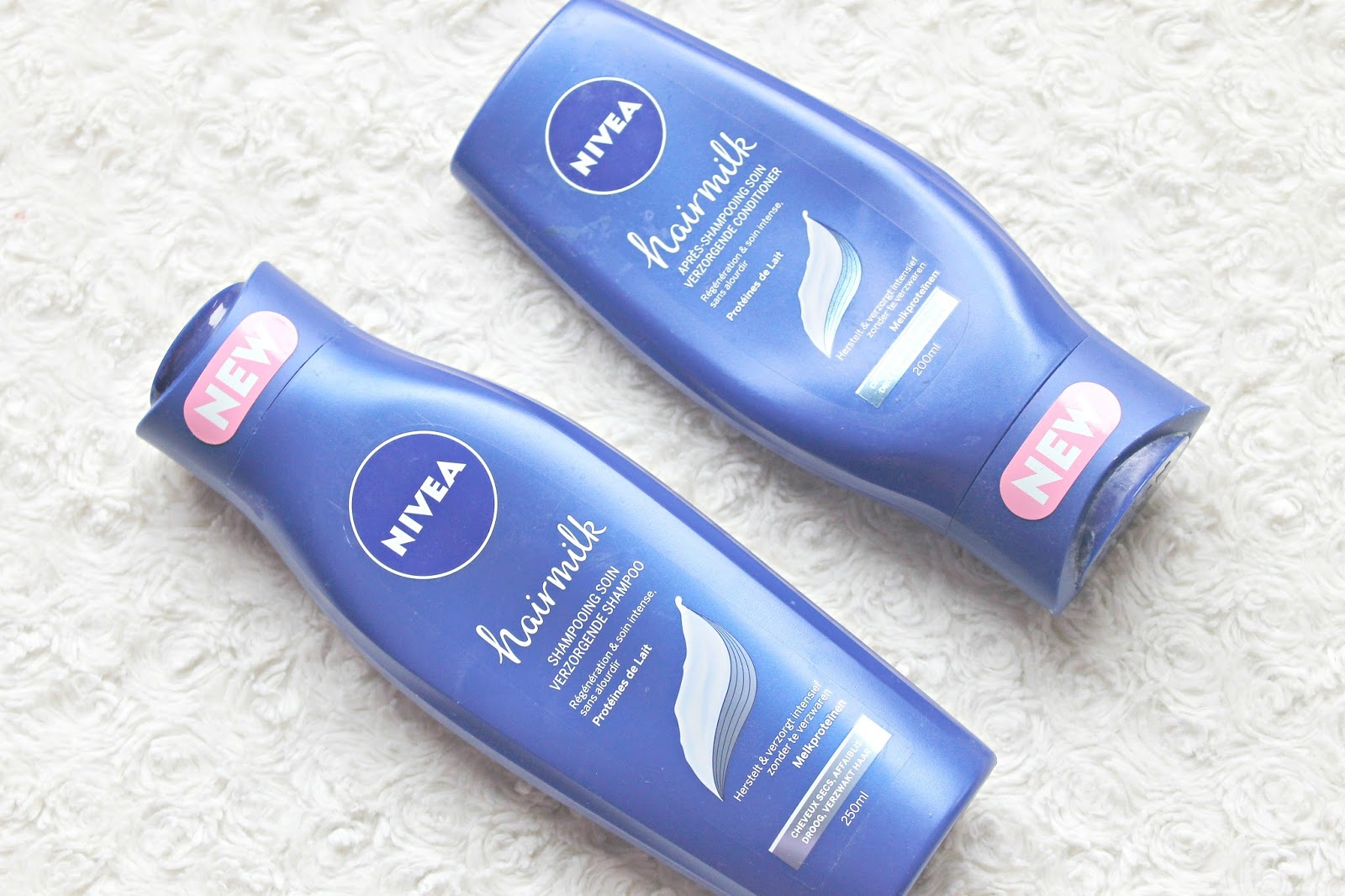 nivea hairmilk verzorgende shampoo conditioner