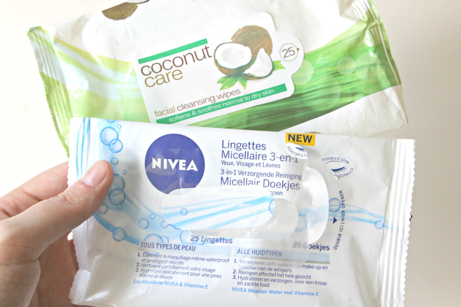 nivea micellaire reinigingsdoekjes coconut care facial cleansing wipes