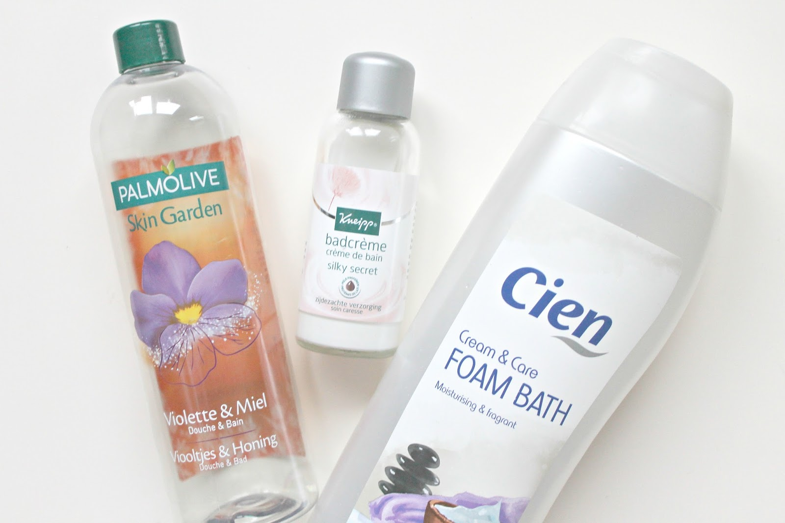 palmolive skin garden douche bad viooltjes honing kneipp silky secret badcreme cien cream care badschuim
