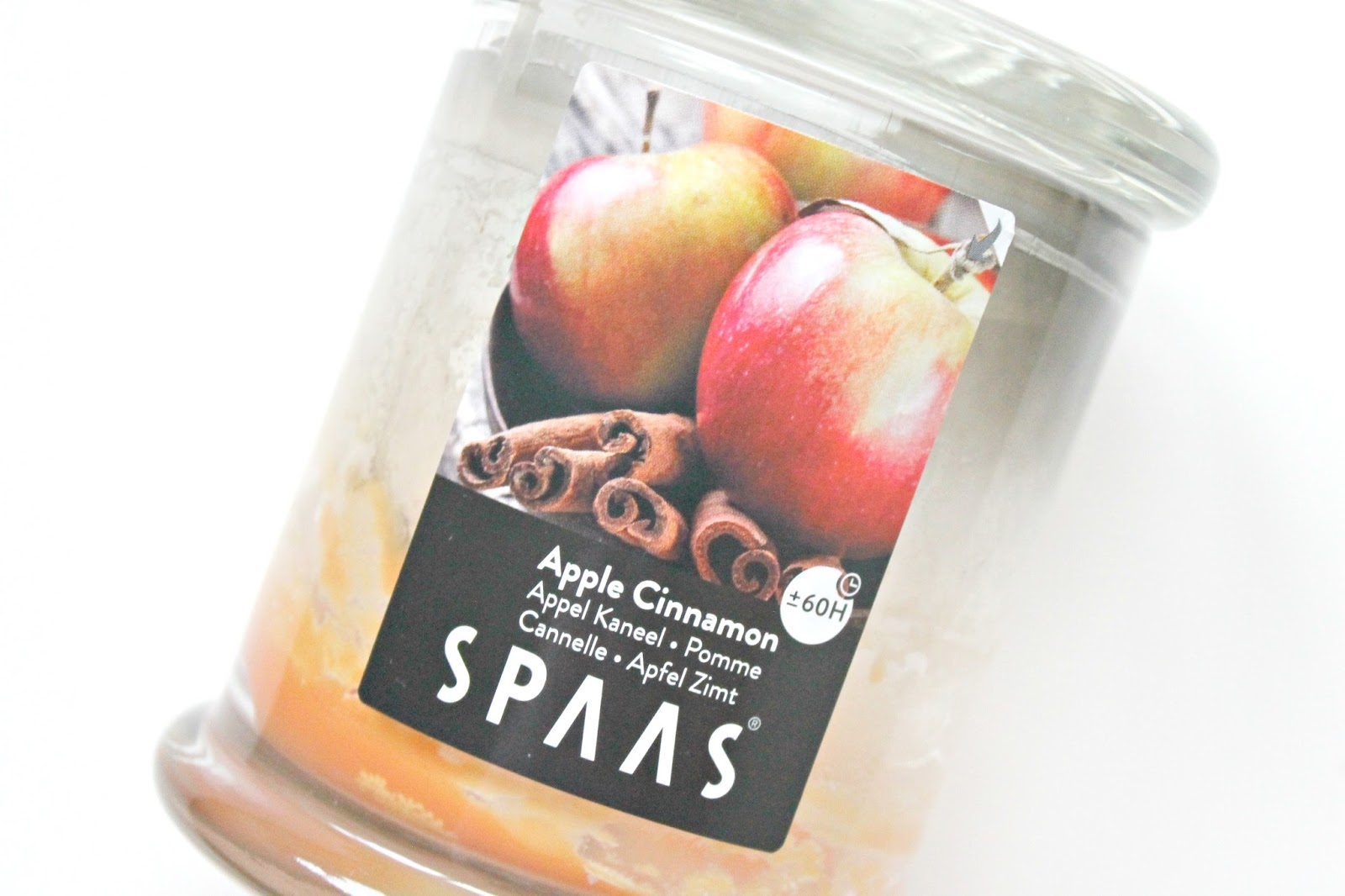spaas geurkaars apple cinnamon appel kaneel