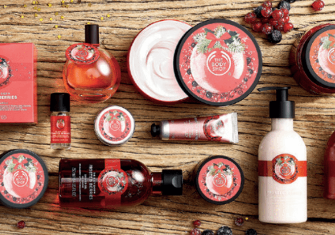 the body shop kerstcollectie 2016 frosted berries