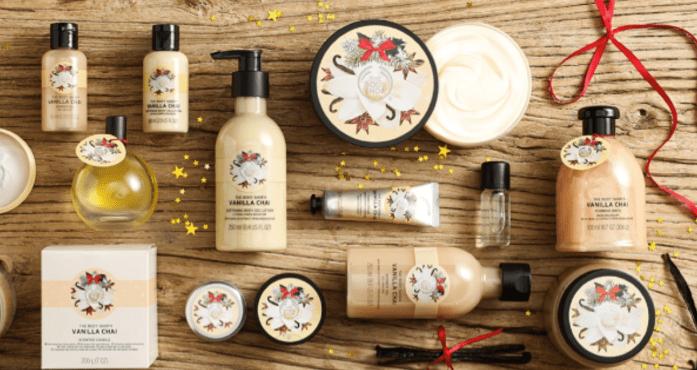 the body shop kerstcollectie 2016 vanilla chai
