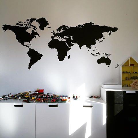 wereldkaart muursticker