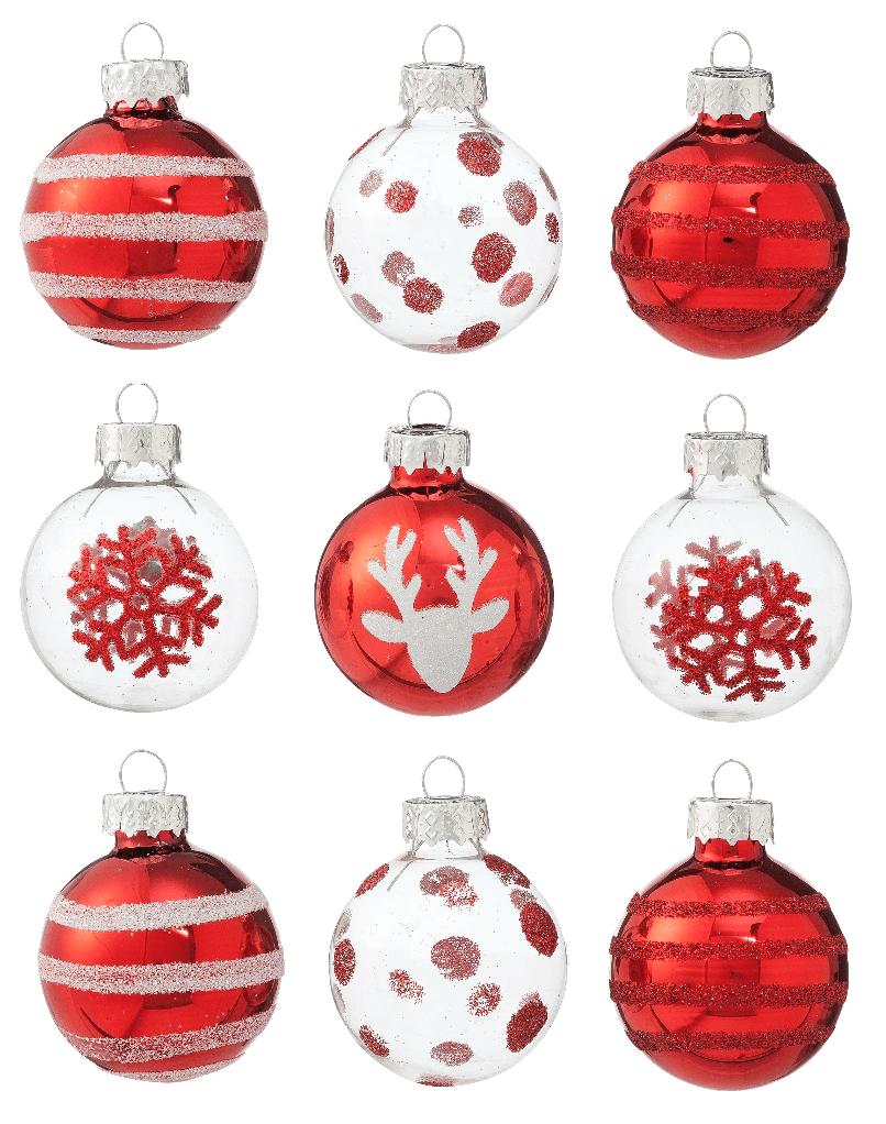 hema kerstcollectie rood wit kerstballen kersthangers